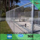 ASTM A 392 heavily galvanized chain link fence with 9ga wire class 1 coating 366g zinc mass