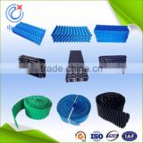 blue green black round cooling tower fill packs, pp pvc sheet filler film infill for tower cooler