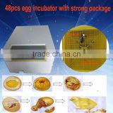 high quality automatic mini 48pcs poultry chicken bird egg incubator