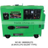 5.0KVA SILENT TYPE GASOLINE GENERATOR WITH LPG DEVICE SINGLE PHASE HM9000LPG