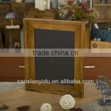 Wholesale Wooden Antique Chalkboard With Wooden Frame and Hooks Can Be Hung Zakka Vintage Style Furnishing Articles 39*39*40cm