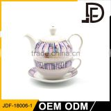 Drinkware islamic wedding favors new goods porcelain tea pot set for one, one cup teapot