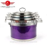 colorful best selling in china high quality stainless steel soup pot set/cooking pot set
