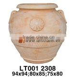 Vietnam Pattern Romance White Wash Pot For Home And Garden