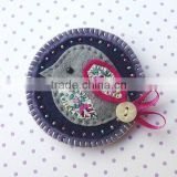 Hot new bestselling product wholesale alibaba handmade quality Felt Bird Brooch Pin made in China