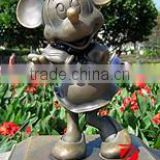 Bronze Mikey Mouse cartoon character sculpture