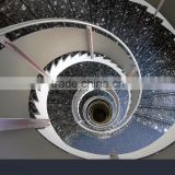 Alibaba hot selling Green Star distinctive color high decorative granite polished retractable stair