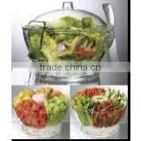 Cold bowl on ice,salad bowl on ice,Keep fresh salad bowl,salad set,