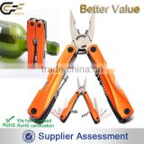Aluminum Handle Folding Stainless Steel Multi Tool Plier with Flashlight for Outdoor Camping Survival