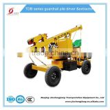 2017 tdb hot sale construction highway hydraulic pile driving machine for guardrail post installation