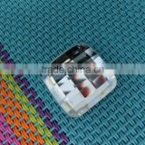 wholesale crystal clear square bead flat back glass stones for jewelry making and bag accessories