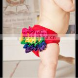 2014 Summer New Design Infant Knit Cotton Baby Rainbow Ruffled Diaper Cover/PettiBloomers Kids Girl Outwear Cotton Bloomers
