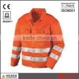 Men High visibility jacket hivis workwear with 3M reflective tape pass certification ENISO20471