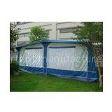 All weather PVC vintage / Travel Trailer Awning for caravans , Blue