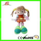 2016 New style cute brown hair cartoon toys plush american girl doll with big foot