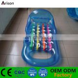 High quality inflatable float lounge foldable water mattress inflatable chair for pool toys