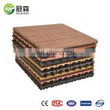 WPC garden swimming pool decoration deck DIY tiles 310*310mm wpc interlocking decking tiles