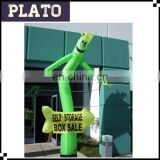 Self storage advertising inflatable air puppet,durable inflatable windy man for box sale