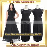 7009# Latest Designs Sleeveless Stitching Black Dresses Women Summer Lace Evening Long Maxi Dress Plus Size Women Clothing