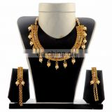 Wedding Wear Gold Pearl Necklace Set - One Gram gold plated necklace set