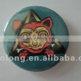 new product gifts standard size custom logo round tin plate metal button badge