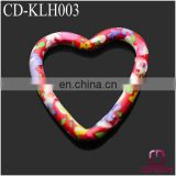 heart shape printed carabiner clips CD-KLH003