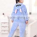 2015 Walsonstyles Cheapest Winter animal Onesie pajamas jumpsuit flannel adult blue stittch pajama