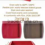 2015 Hot Sale!!!! Silicone cake mold, microwave oven cake pan, square cake pan