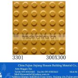 fujian300x300mm yellow Tactile exterior Ceramic floor tile designs -outdoor porcelain floor tile