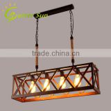 New Design Rectangle Wood Pendant Light/Bamboo Edison Pendant Light                                                                         Quality Choice