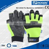 RS SAFETY Impact and softtextile safety glove in synthetic Half finger leather driving gloves