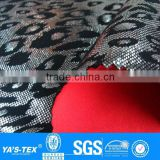 3 layers leopard print gilding waterproof breathable softshell fabric for sportswear jacket