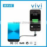 vivi wave portable electronics power bank 8000mah for tablet pc portable battery charger case power bank