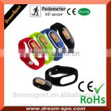 Mini Pedometer Bracelet Wristband Step Counter with Silcone Band DP-888