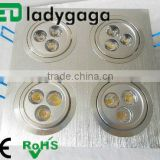 4*3*1w led downlight ceiling light surface recessed mounted aluminium residential lamp lighting ce rohs