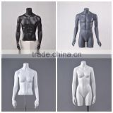 Display half body black male or female torso mannequin bust without head