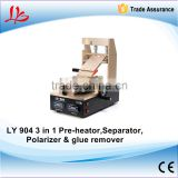 LY 904 OCA lcd glue remover 3 in 1 pre-heating separator glue and polarizer removing