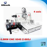 110V/220V 1500W CNC 6040 Z-S65J Engraving Machine with 4 axis Update from CNC 3040 For metal wood