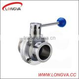 Stainles steel 6 inch butterfly valve