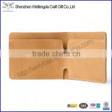 vegetable-tanned leather card holder men business card wallet china factory supplier