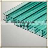beautiful building green plastic cover sheets hollow tinted polycarbonate sheet