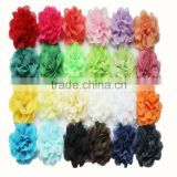 2014 pretty chiffon lace flower by piece for baby wholesale -chiffon shabby fabric flower