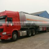 China truck Cheap Howo sinotruck 38000 Liter fuel transport tanker semi trailer TAZ9400GYY for sale FOR ETHIOPIA