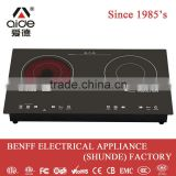 Freestanding double burner electric induction cooker far infrared heater used home appliance