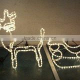 led fiber optic tree lamp LED magic colour christmas lights for outdoor project/LED 3D motif christmas deer snowman