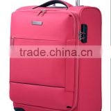Conwood polyester four wheels trolley luggage,travel luggage bags