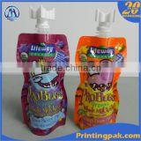 custom printed self standing liquid laundry detergent doypack pouch with spout for packing milk juice