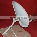 KU elliptical satellite dish antenna with multi LNB holder