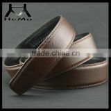 Brown color both side high quality cowhide leather belts for jeans men