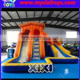 XIXI Dual Lane Inflatable Water Slides With Ball Pit For Kids